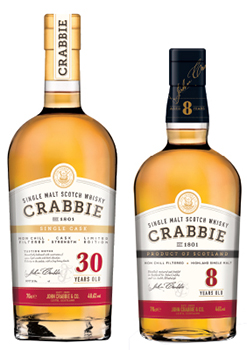 John Crabbie 8 and 30 year whisky