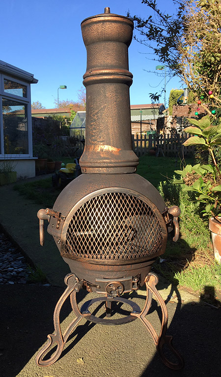 cast iron chiminea photo
